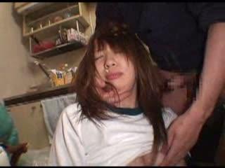変態男の部屋にブルマ姿で監禁された速水百花が快感を擦り込まれるハードなセックス調教で犯される